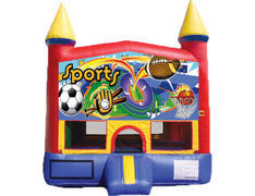 Red & Yellow Castle Bounce House - Sports