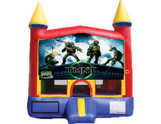 Red & Yellow Castle Bounce House - TMNT