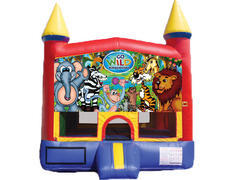 Red & Yellow Castle Bounce House - Wild Kingdom