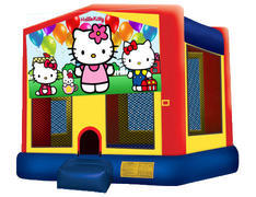 Yellow, Red & Blue Bounce House - Hello Kitty