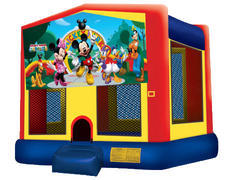 Yellow, Red & Blue Bounce House - Mickey & Friends