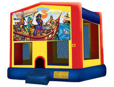 Yellow, Red & Blue Bounce House - Pirates