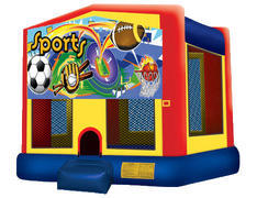 Yellow, Red & Blue Bounce House - Sports