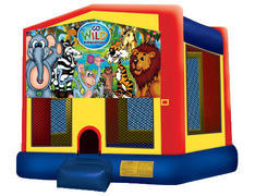 Yellow, Red & Blue Bounce House - Wild Kingdom