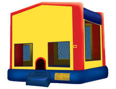 Yellow, Red & Blue Bounce House