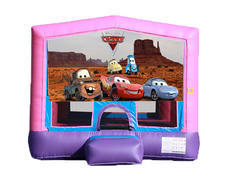 Pink & Purple Bounce House - Cars