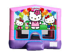 Pink & Purple Bounce House - Hello Kitty