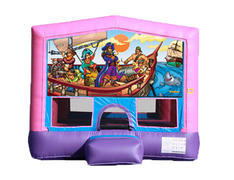 Pink & Purple Bounce House - Pirates