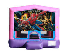 Pink & Purple Bounce House - Spiderman