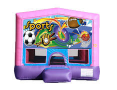 Pink & Purple Bounce House - Sports