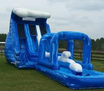 17' Dual Lane Waverush w/ Slip & Slide