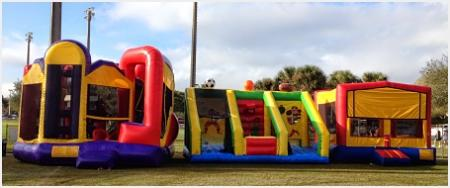 Bounce House Setup at Soccer Park in Plantation FL