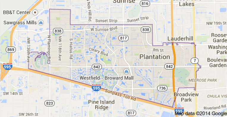 Plantation, FL Party Rental Delivery Area