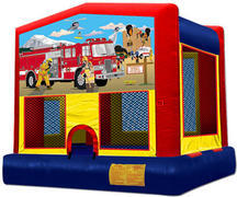 Fire Truck / Firemen Bounce House