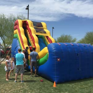 16 Foot Water Slide at Goodyear Ballpark