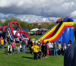 Obstacle course and 20-foot slide at Peoria AZ event