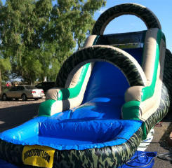 16' Camo Wet Slide with Pool