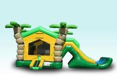 3D Tropical Bounce/Dry Slide Combo with Bumper