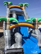 18ft Tropical Single Lane Waterslide