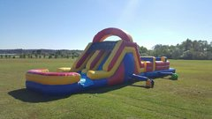 45ft double slide obstacle course
