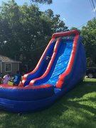 22ft Blue and Red Slide with pool
