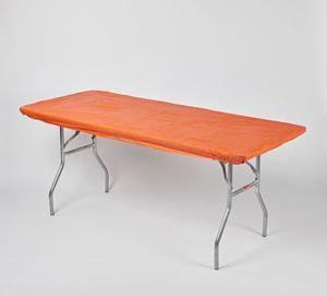 Fitted Table Cover Orange (Reusable)