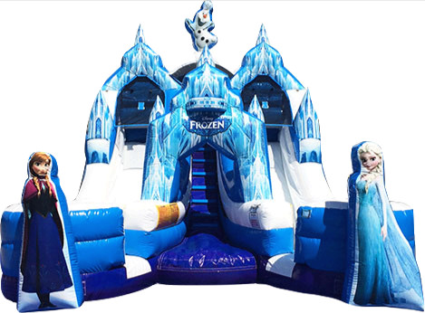 16 ft Frozen Castle (bumpers, dual lanes)