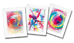 Spin Art - 50 Cards & Frames with Paint