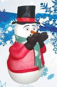 The Christmas Snowman (blows fake snow)