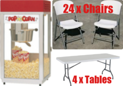 Table, Chair, Popcorn Package