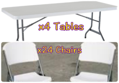 4x Table and 24x Chair Package - $59