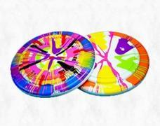 Spin Art - Frisbees and Paint