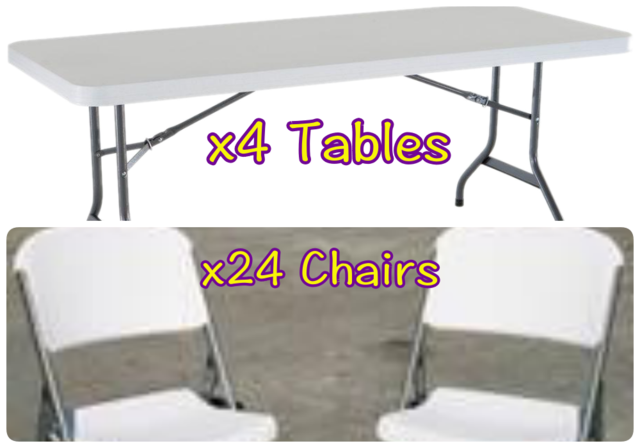 Table and Chair Package w.o setup