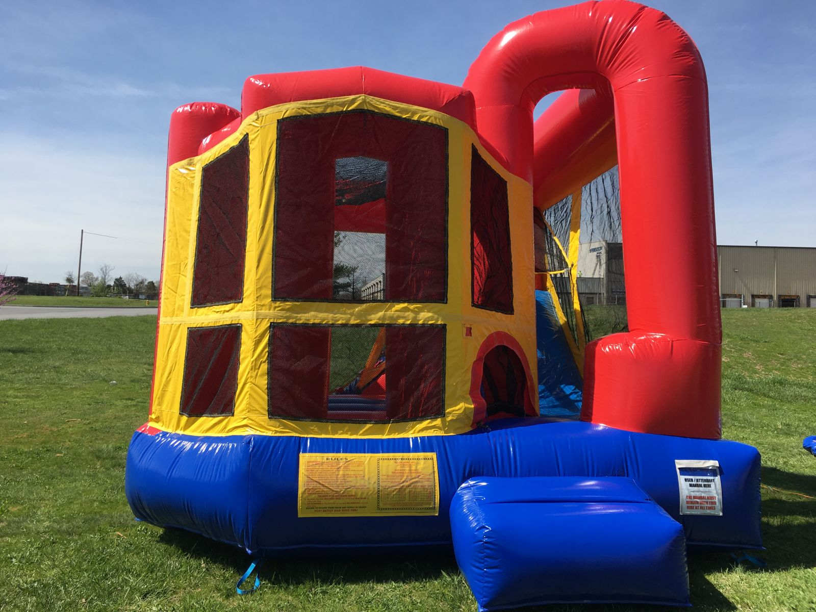 backyard combo rental backyardamusements com white plains maryland rh backyardamusements com yard bounce house best backyard bounce house