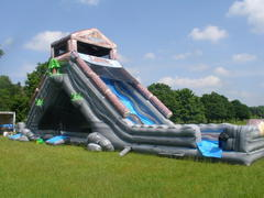 Log Jammer Water Slide w/ Moonbounce Underneath