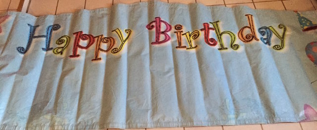 12' Banner - Happy Birthday