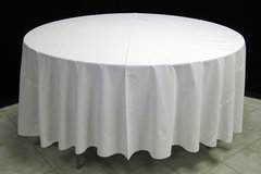 "White 108"" Round Table Linen"