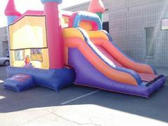Wet Slide and Bounce House Combo
