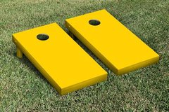 Yellow Cornhole Board Set
