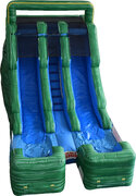 NEW!15ft Double Lane Marble Green Water Slide