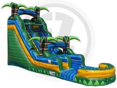 NEW!20 ft. Tropical Emerald Rush Water Slide