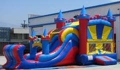 Dry Slides and Combo Bounce Houses