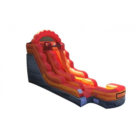 13' Fire Red Marble Wet Slide