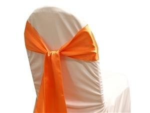 Satin Sash CORAL ORANGE