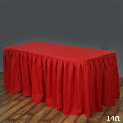 Red Table Skirt
