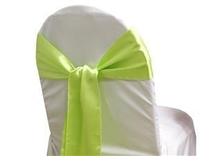 Satin Sash APPLE GREEN