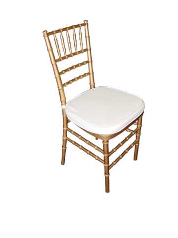 Chiavari Chair Gold with White Cushion