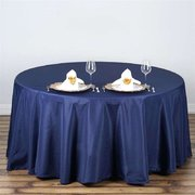 "Round Tablecloth 108"" Navy Blue"