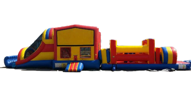 50' Blue Obstacle Course Modular 13'x50'