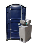 Portable Restroom Blue with Sink